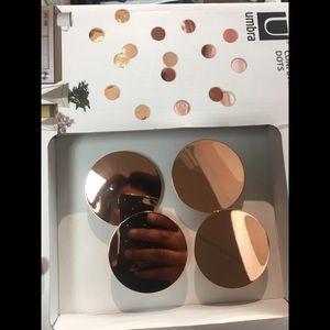 Umbra Rose Gold Decor Dots/Confetti wall Decor
